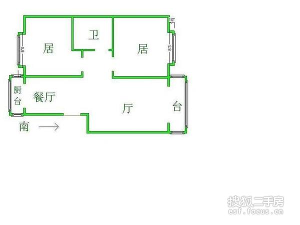 新春花苑二期绿茵庭-户型图2
