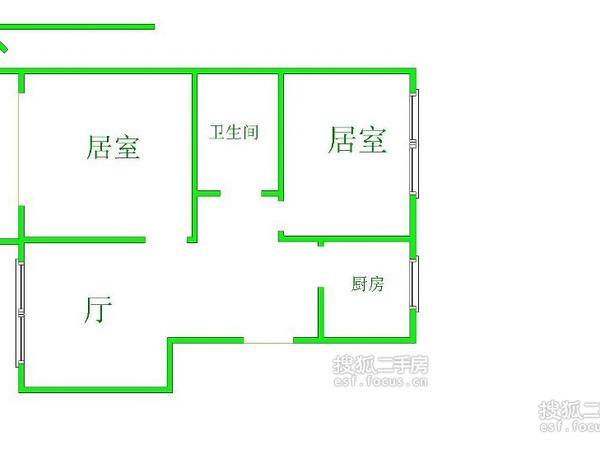 新春花苑二期绿茵庭-户型图3