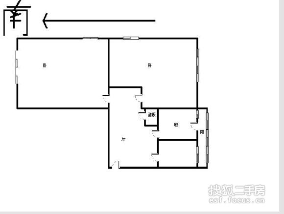 环渤海国际公寓-户型图5