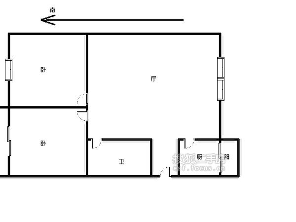 科园云居公寓-户型图4