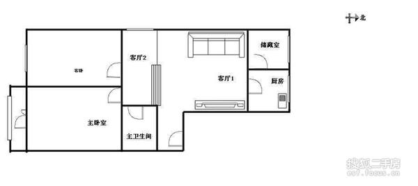 益博公寓-户型图2