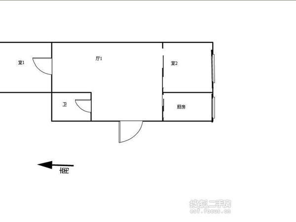 跃进里小区-户型图4
