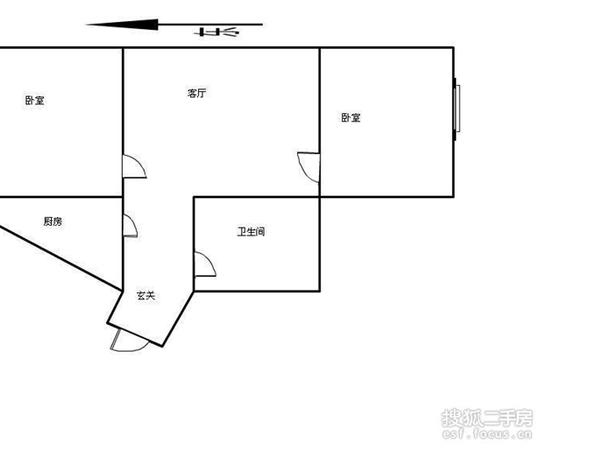 跃进里小区-户型图5