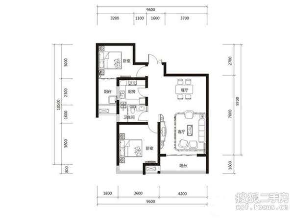 财富大厦-户型图3