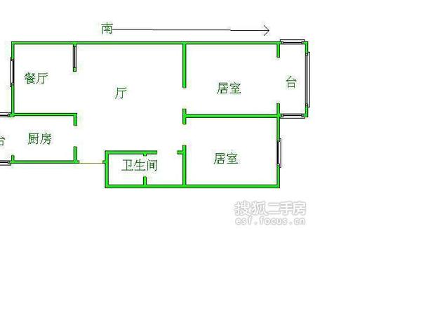天津富力中心写字楼-户型图2