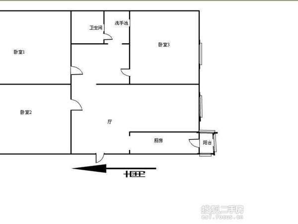 天津富力中心写字楼-户型图4