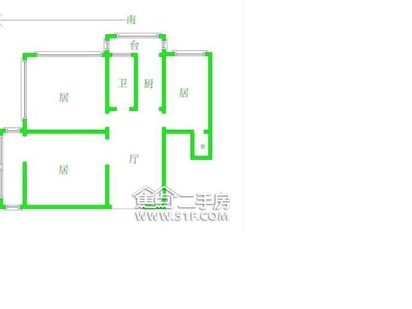 天津富力中心写字楼-户型图7