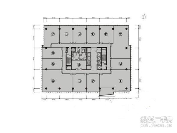 富力盈力大厦-户型图5