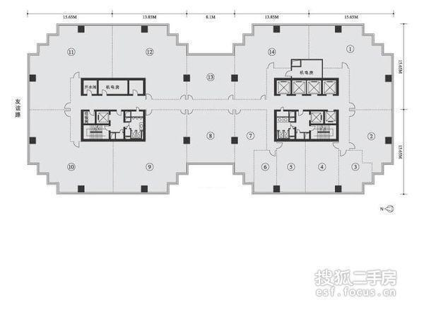 嘉利中心写字楼-户型图2