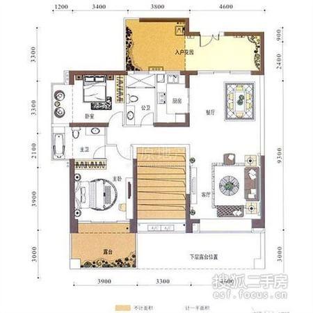 中空高档客厅,赠送 100平米,欧式精装修 ,婚房首