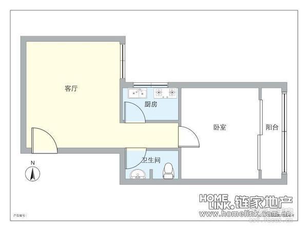 半岛逸景公租房一房一厅户型图
