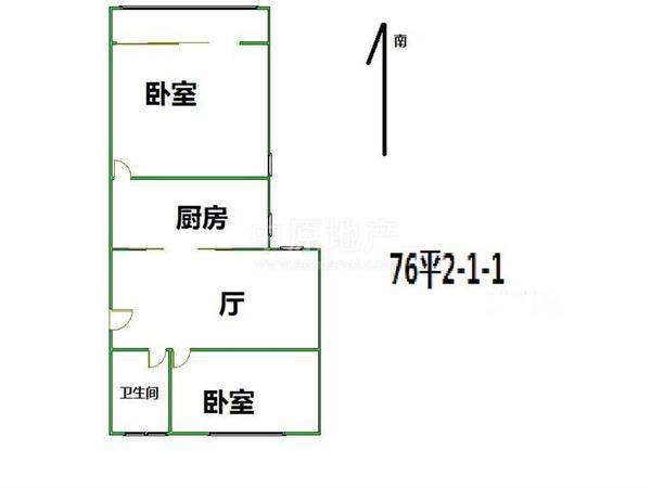 虹口区 凉城 水电路1013弄小区 中等装修 63平米2室1厅厅1卫卫