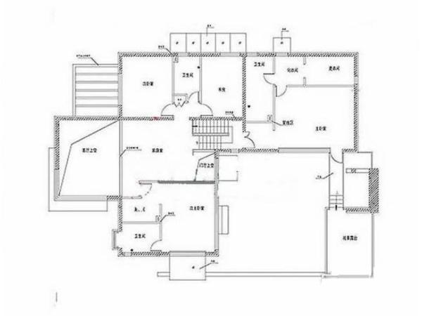 双拼两层四合院房设计图展示