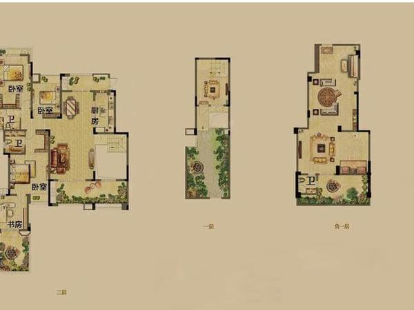 170平 3室4厅  630万 顺义 泰禾·北京院子 无税2 08平米独栋别墅带一
