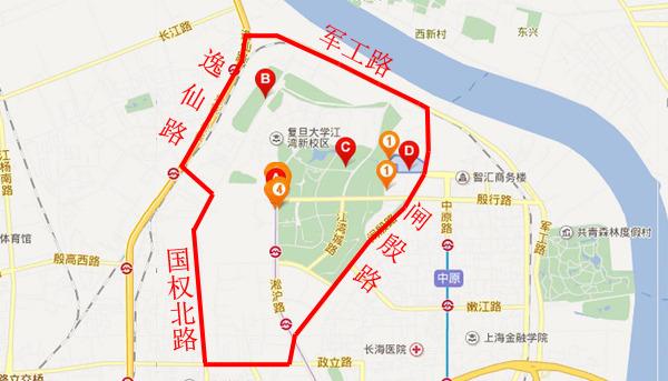 上海行政区划分图