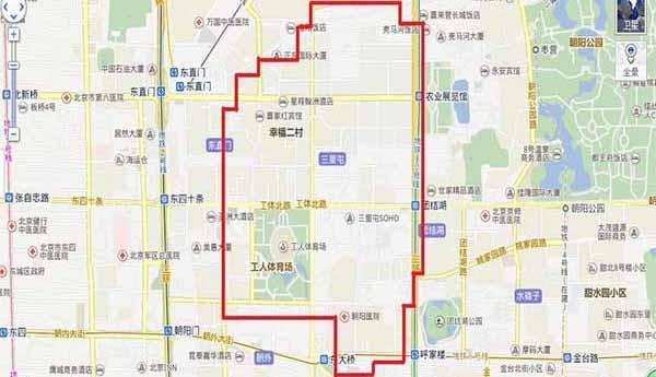"""三里屯 平面图_三里屯版块:北京夜生活最""""繁华""""的娱乐街"""