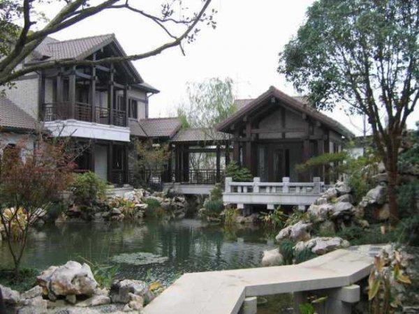 纯中式宅邸,四季立体景观花园风景如画观唐