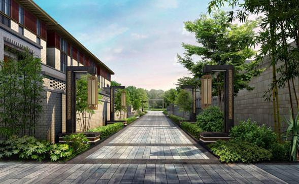 新中式别墅庭院设计图