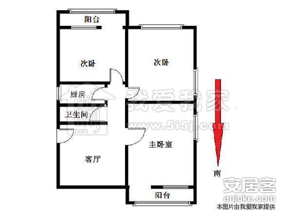塔院社区 南北通透最nb的三居室户型