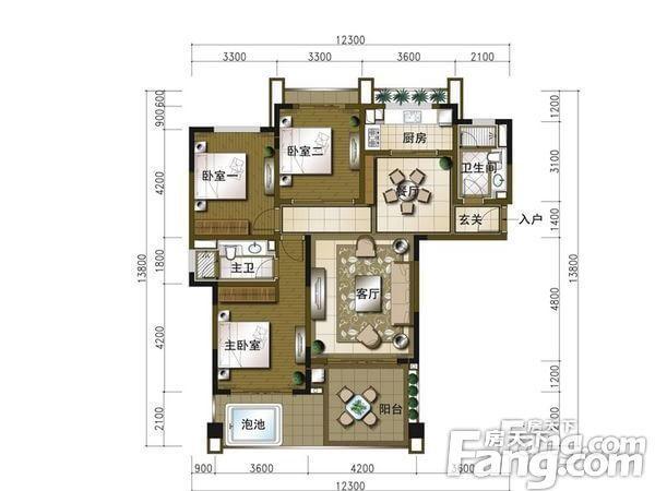 珊瑚宫殿别墅-户型图3