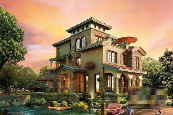 北京开发商鸿坤新房现房独栋联排别墅下沉式花园120