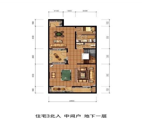 别墅客厅平面图手绘