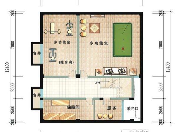 鲁能三亚湾美丽三区别墅-户型图4
