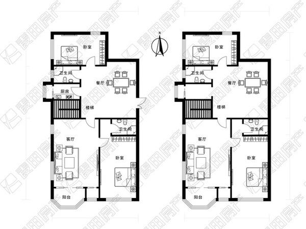 [麦田认证房] 麦田在线 复式结构 大厅朝南 板楼四居 南北通透
