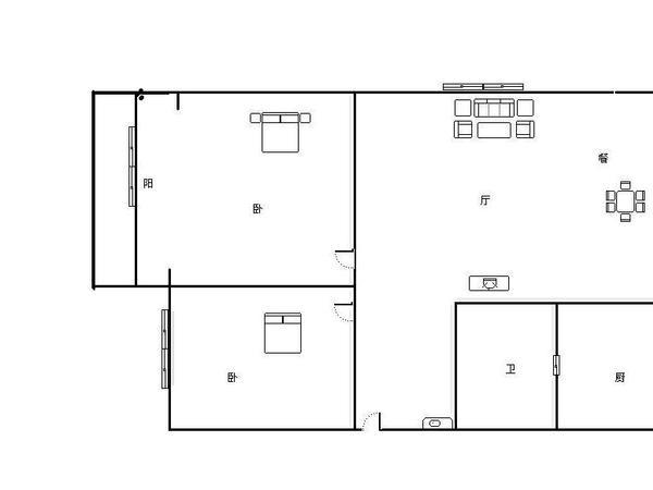 白马小区-户型图5