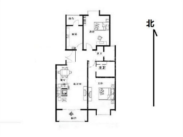 [我爱我家 相约米兰] 我爱我家北京青年城婚房:板楼南北通透两居满五