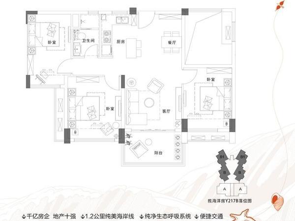碧桂园东海岸-户型图3