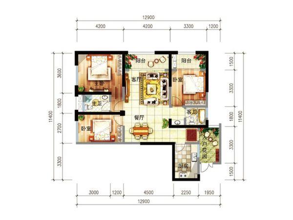 尚源郦城 首付12万户型好 明厨明卫位置好-室内图-4