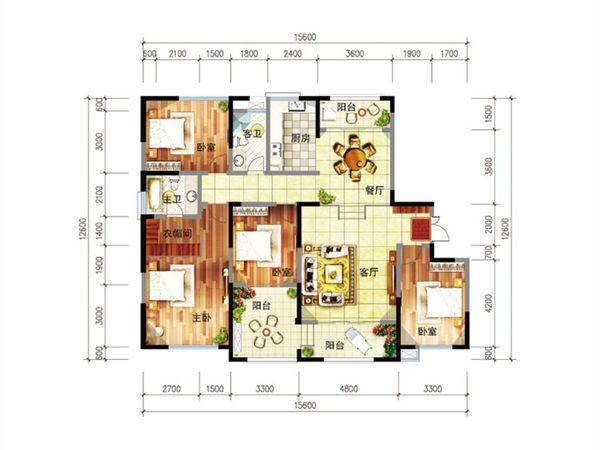 尚源郦城 首付12万户型好 明厨明卫位置好-室内图-6