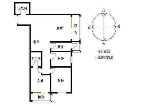 三室两厅两卫 满五唯一