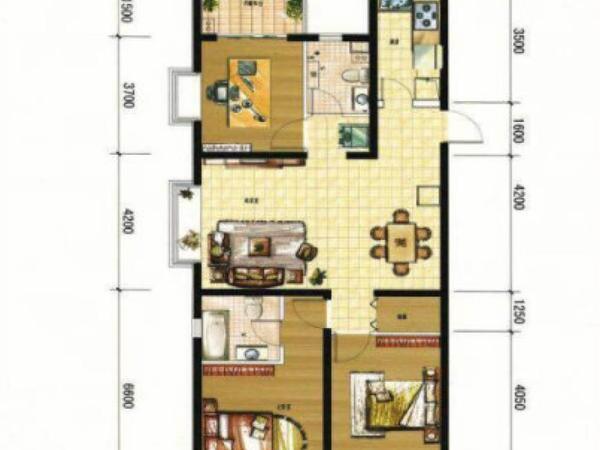 首付两成买现房现房即买即住70年产权可落户马街摩尔城-室内图-6