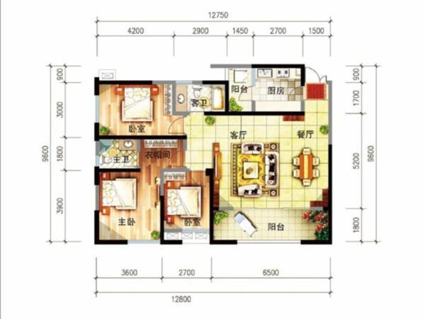 尚源郦城 首付12万户型好 明厨明卫位置好-室内图-7
