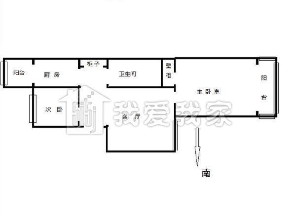 [我爱我家 相约米兰] 北影新上东西通透两居室豪华装修25米大客厅落地