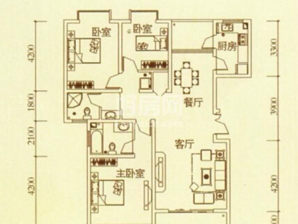 绿城浪琴湾-户型图3