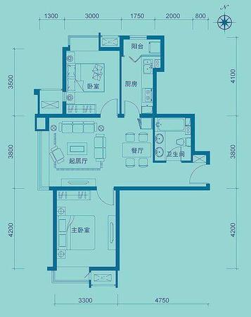 南通重庆远洋城二期户型图