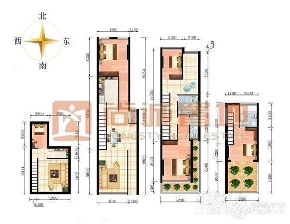 层带阳光房三层带露台门口有车库精装别墅-室内图-11