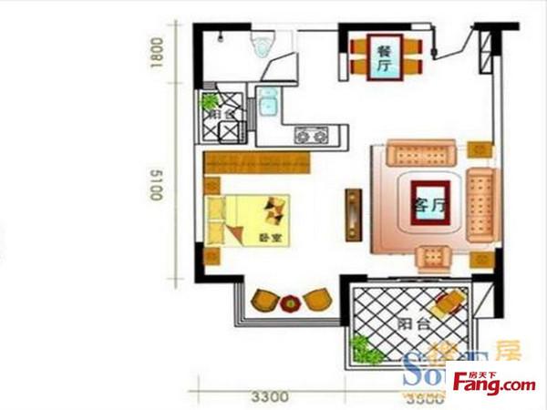 金色年华海景小区-户型图3