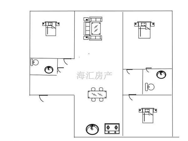 中天国际公寓-户型图2