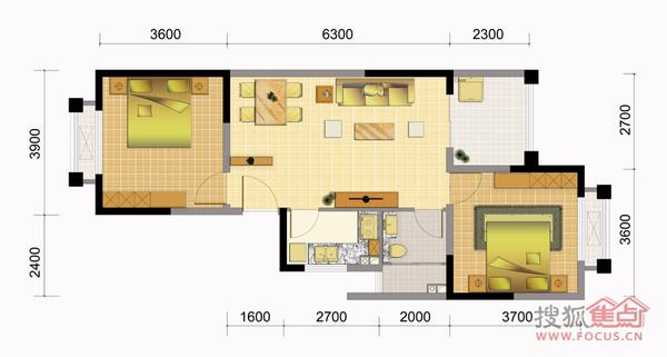 小户型一房一厅超优惠 空气好养生度假旅游养老之城现房报机票住-室内图-9