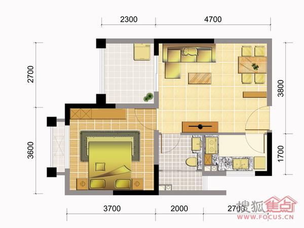 小户型一房一厅超优惠 空气好养生度假旅游养老之城现房报机票住-室内图-10