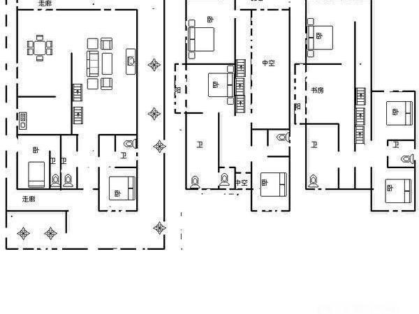 度假区海韵枫丹 端头600平668万 6室 诚心出售 豪38-室内图-8