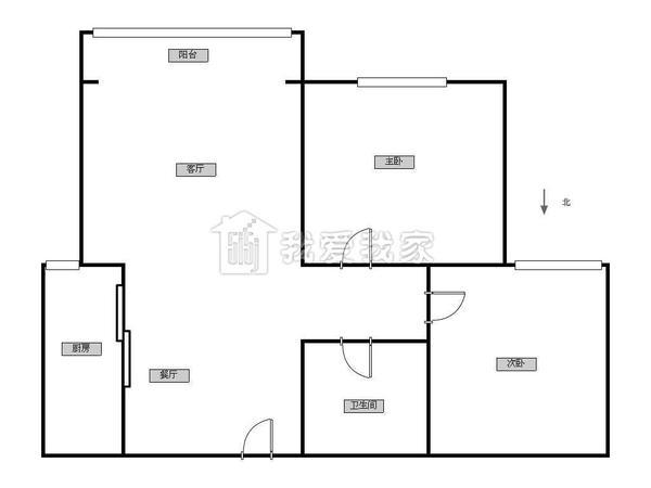 淮祥园 两室一厅 价位合适 随时看房-室内图-7
