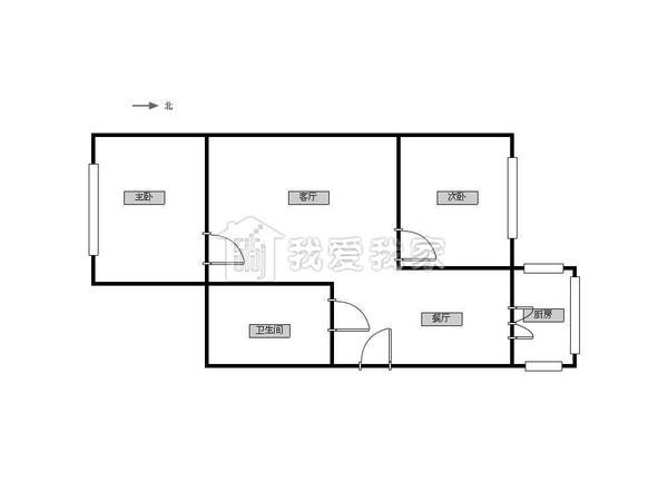 今日家园五楼南北向的精装修 地铁三号线 配套齐全-室内图-7