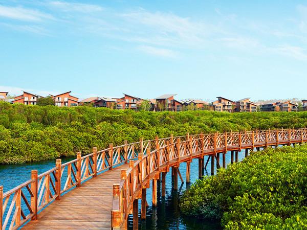 澄迈富力红树湾,精装小洋房享内外双海景观,2200亩湿地公园-室外图-363081551