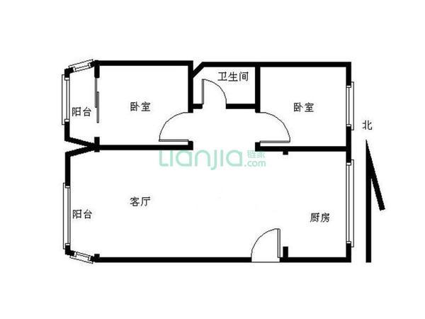 精装修两室 看房方便 户型方正 采光好-室内图-1