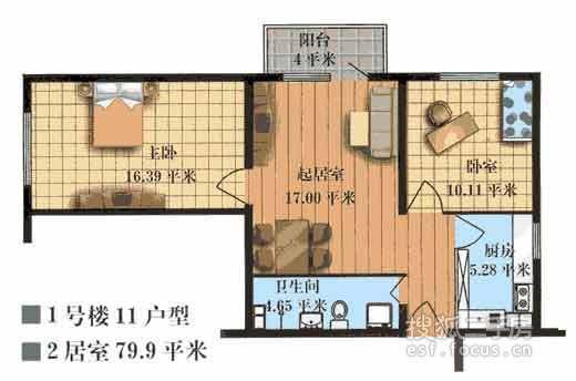 [我爱我家 全优房源] 百合园最具性价比的两居室,业主诚意出售中